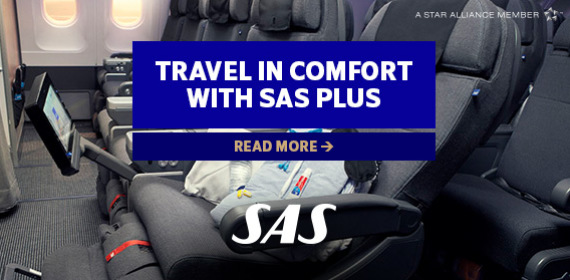 Travel in comfort with SAS Plus