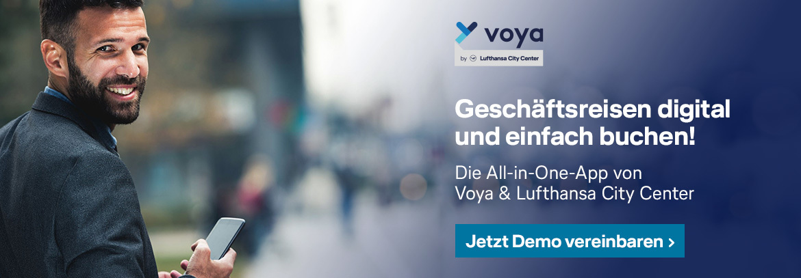 Digitales Gescchäftsreise-Management mit Voya